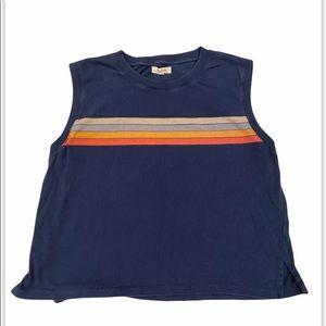 Madewell Top Sleeveless Rainbow shirt Blouse Tank